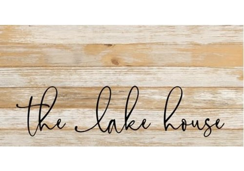 24'' x 12'' The Lake House Reclaimed Wood Sign White Reclaimed Wood