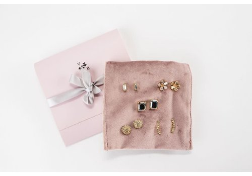 Elyse Earring 5 Piece Gift Set-Clear
