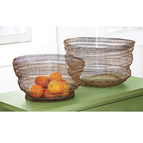 Small Brass Wire Collapsible Bowl (Sold Separately)