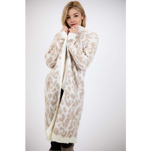Beige Leopard Cardigan