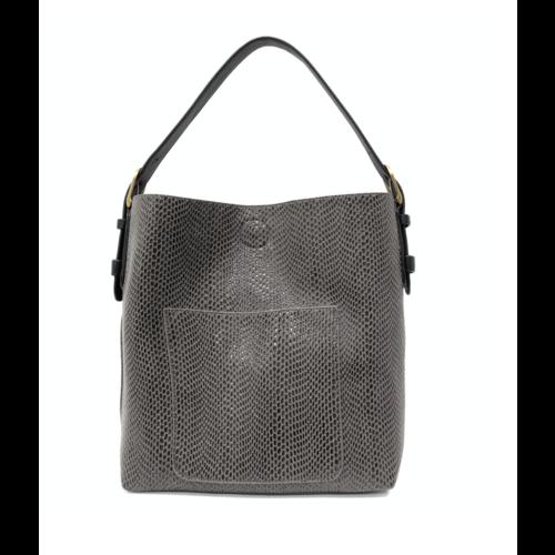 Python Sara Bucket Bag- Charcoal