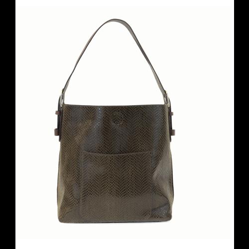 Python Sara Bucket Bag- Olive