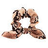 Blush Snake Skin Short Pony Scrunchie