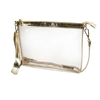 Large Crossbody- Clear PVC with Gold