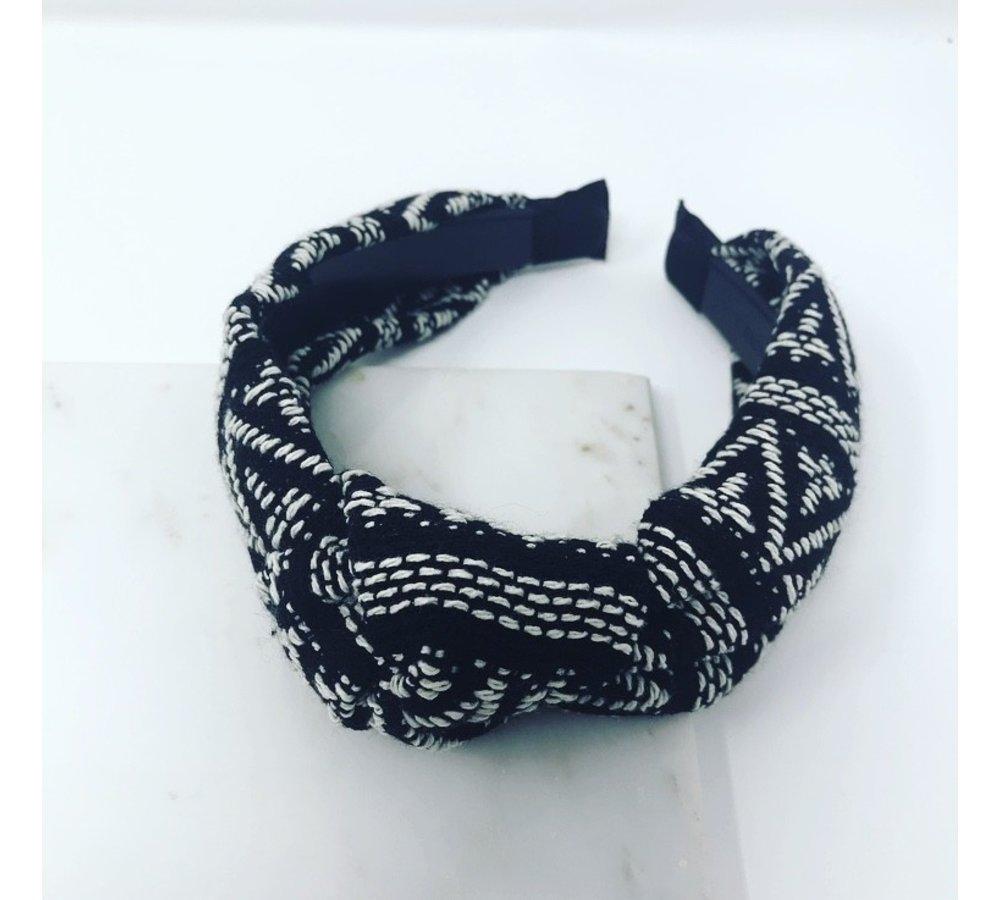 Black / White Tribal Pattern Headband