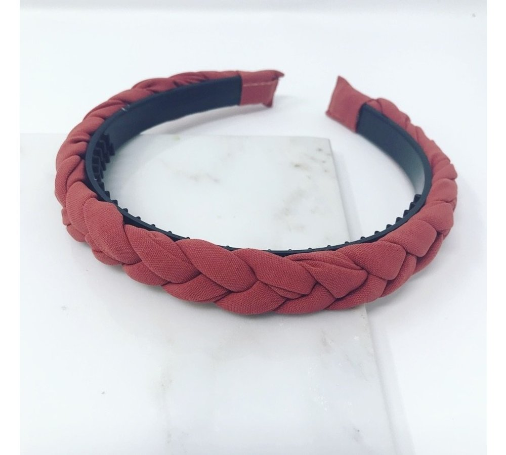 Braided Headband - Coral