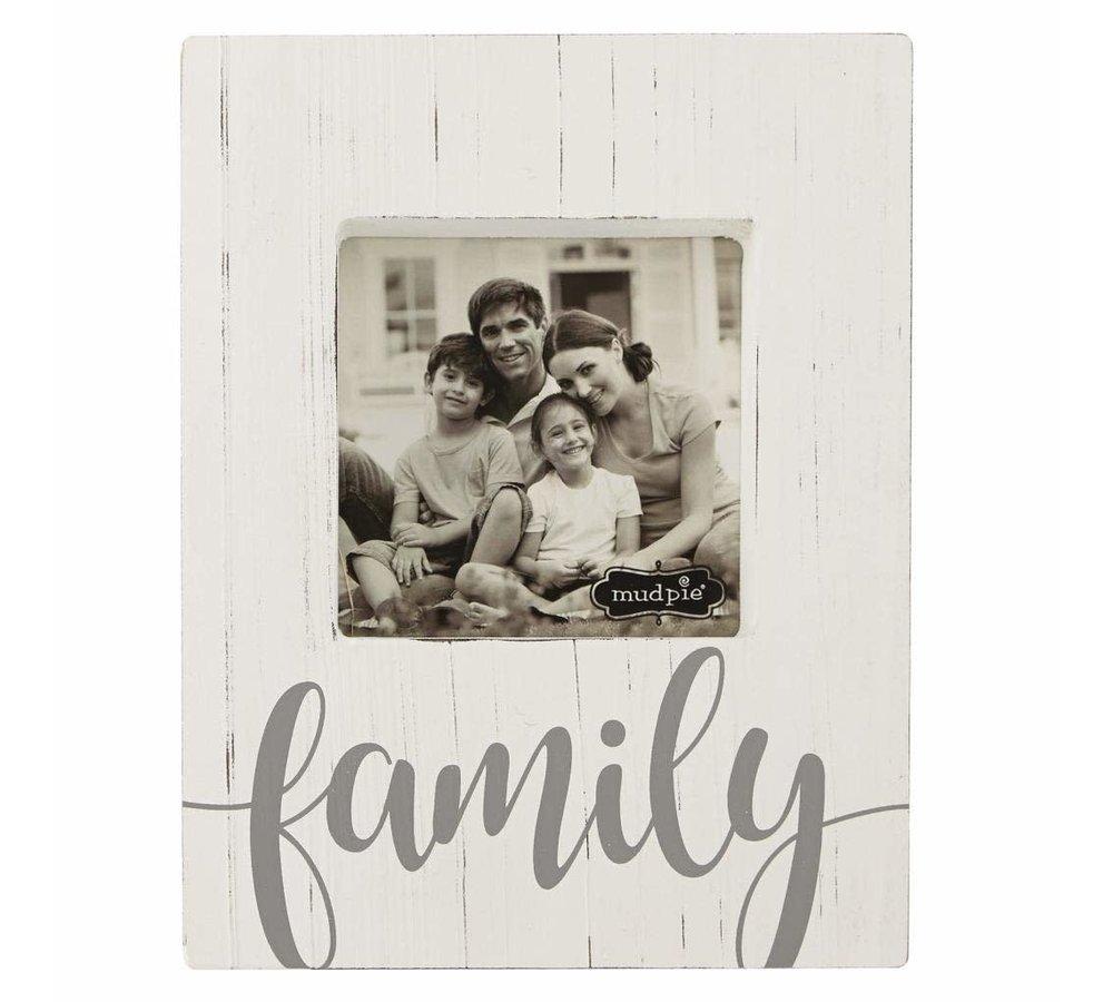 Family Block Frame-White