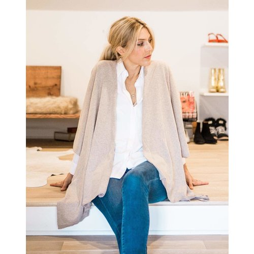 Cashmere and Wool Wrap Light Camel