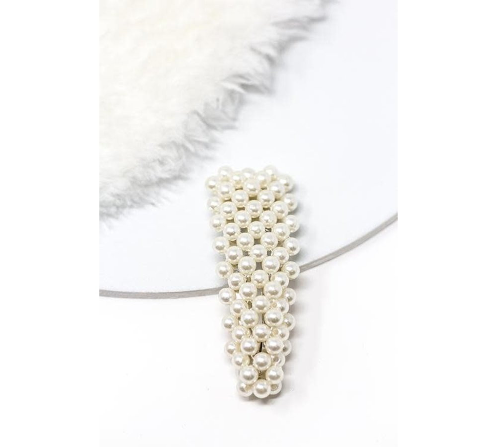 Large Triangle Pearl Hair Clip