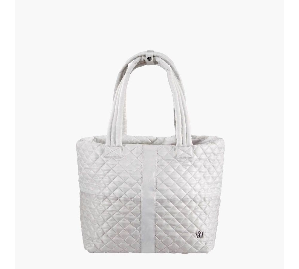 Large Wingwoman Tote- Champagne Colorblock