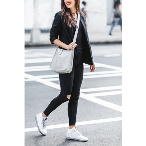 Distressed Skinny Jeans-Vintage Black