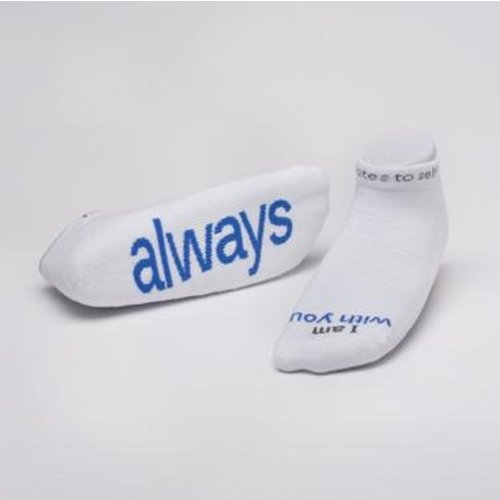 Notes To Self® 'I Am With You Always'®  Socks