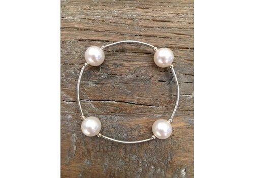 Four Pearl Bracelet - Pearl