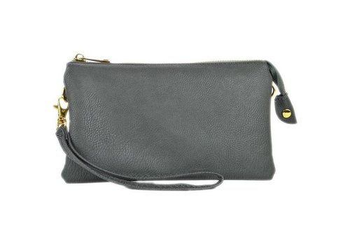 3-in-1 Solid Purse - Grey