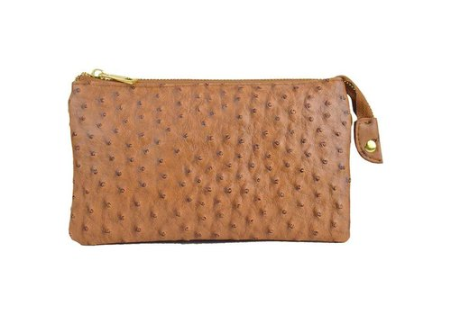AH!dorned 3-in-1 Ostrich Purse - Camel