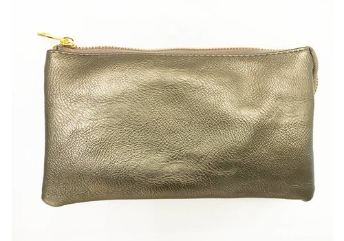 3-in-1 Solid Purse - Pewter
