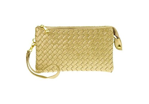AH!dorned 3-in-1 Woven Purse - Gold