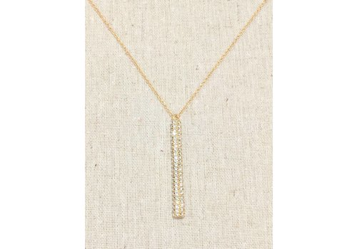 Gold  Dangle Crystal Necklace