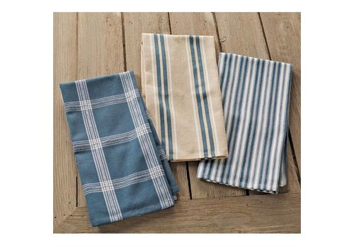 BLUE STACKED TOWEL SET