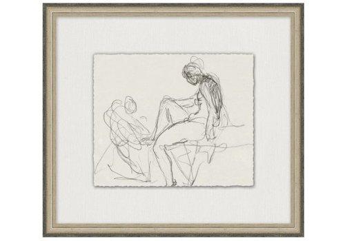 Wendover Art Charcoal Figure Study 8- Wall Art