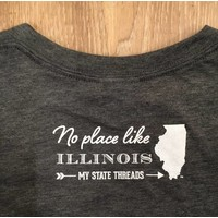 Charcoal Illinois State T-Shirt