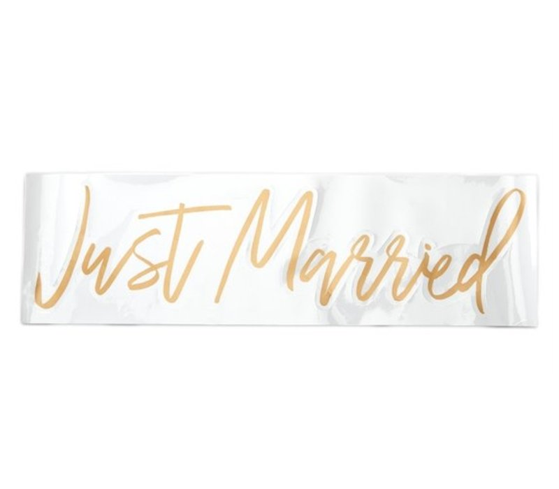 Just Married Window Cling in Gift Tube