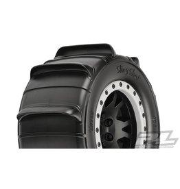 "PRO-LINE RACING (PRO) PRO1014513 Sling Shot 4.3"" Pro-Loc Sand Tires Mounted on Impulse X-MAXX® Wheels"