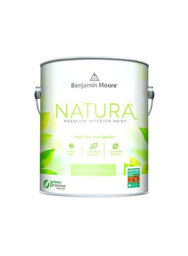 BENJAMIN MOORE NATURA INTERIOR SEMI-GLOSS  GALLON