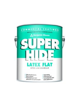 BENJAMIN MOORE SUPER HIDEINTERIOR LATEX FLAT GALLON