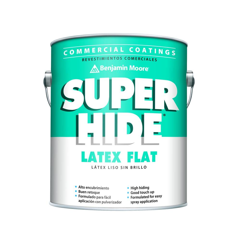 BENJAMIN MOORE 0282 SUPER HIDE INTERIOR LATEX FLAT GALLON