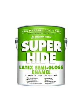 BENJAMIN MOORE SUPER HIDE INTERIOR LATEX SEMI-GLOSS GALLON