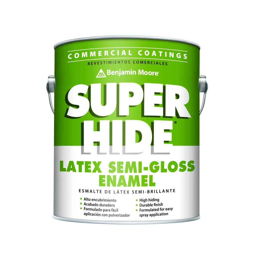 BENJAMIN MOORE 0283 SUPER HIDE INTERIOR LATEX SEMI-GLOSS GALLON