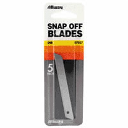 ALLWAY TOOLS ALLWAY 07027 SNB 9MM SNA P-OFF KNIFE BLADE (5CD)