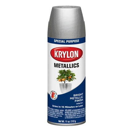 KRYLON PAINTS KRYLON METALIC SILVER 11OZ