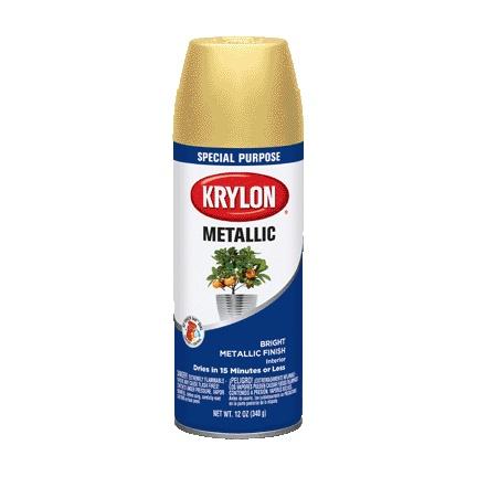 12 OZ KRYLON BRIGHT GOLD METALIC AEROSOL