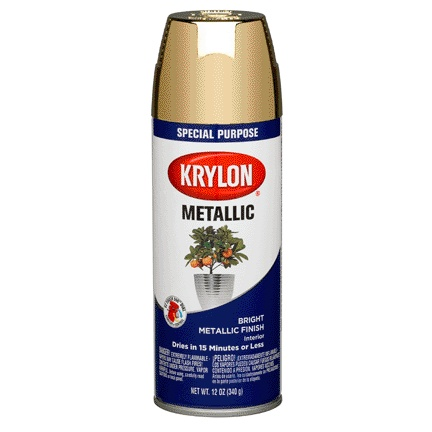 KRYLON PAINTS KRYLON METALLIC BRASS 12 OZ