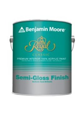BENJAMIN MOORE N333 REGAL CLASSIC INTERIOR SEMI GLOSS GALLON