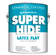 BENJAMIN MOORE 0282 SUPER HIDE LAT FLAT CEILING FLAT WHITE FIVE GALLON