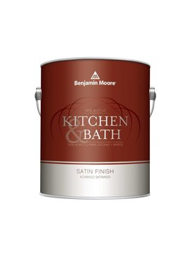 BENJAMIN MOORE Kitchen and Bath Interior Satin Latex Quart