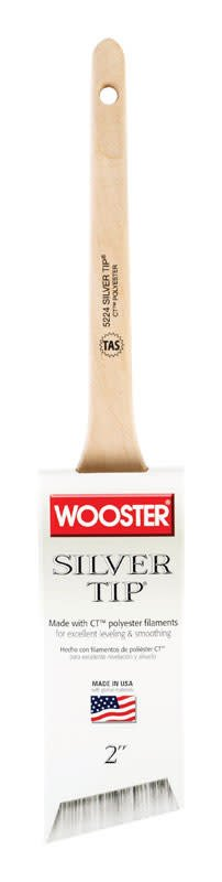 """WOOSTER BRUSH COMPANY WOOSTER 2"""" SILVER TIP ANGLE SASH BRUSH"""