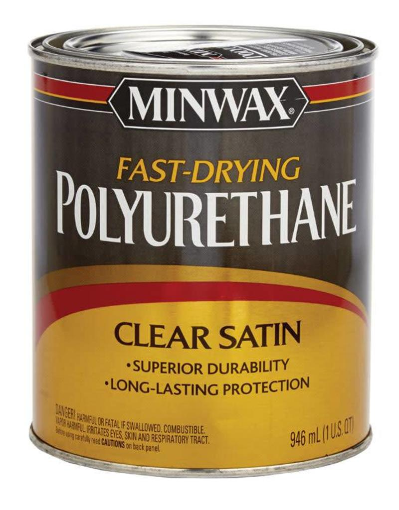 Minwax Clears Fast Dry Polyurethane Satin Quart Cappys Paint And