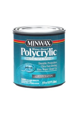 MINWAX POLYCRYLIC PROTECTIVE FINISH SATIN HALF PINT