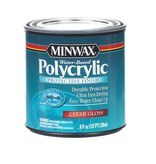 MINWAX POLYCRYLIC PROTECTIVE FINISH GLOSS HALF PINT