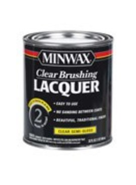 MINWAX CLEAR BRUSHING LACQUER SEMI-GLOSS QUART