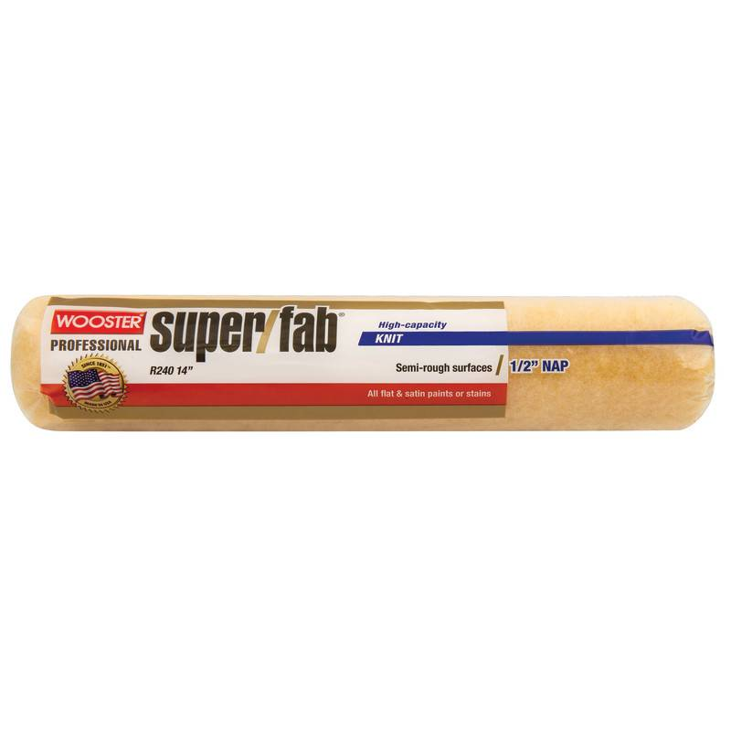 WOOSTER BRUSH COMPANY 14'' SUPER/FAB 1/2'' NAP ROLLER COVER