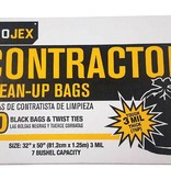 42 GAL BLACK CONTRACTOR CLEAN-UP BAG 20CT 3MIL