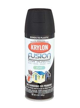 12 OZ KRYLON FLAT BLACK FUSION AEROSOL