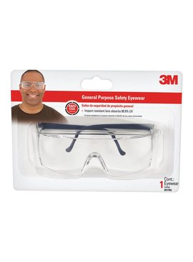 GENERAL PURPOSE SAFETY GLASSES, CLEAR LENS