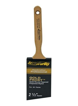 "ARROWORTHY LLC ARROWORTHY GOLD FROST 2 1/2"" ANGULAR SASH BRUSH"