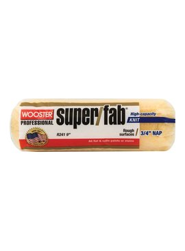 "WOOSTER BRUSH COMPANY 9"" SUPER/FAB ROLLER CVR 3/4"" NAP - FLAT PAINTS, STAINS"